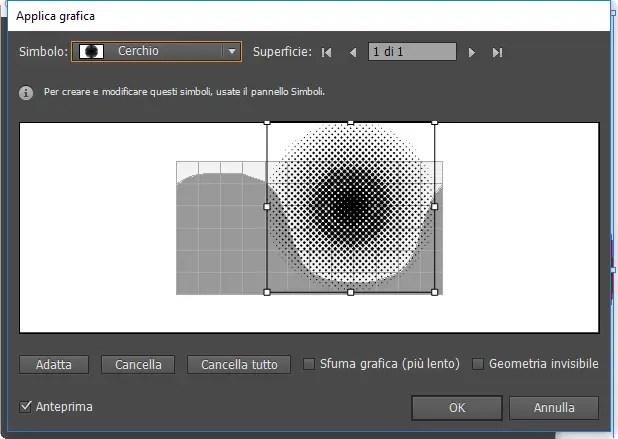 Applica grafica di effetto 3D
