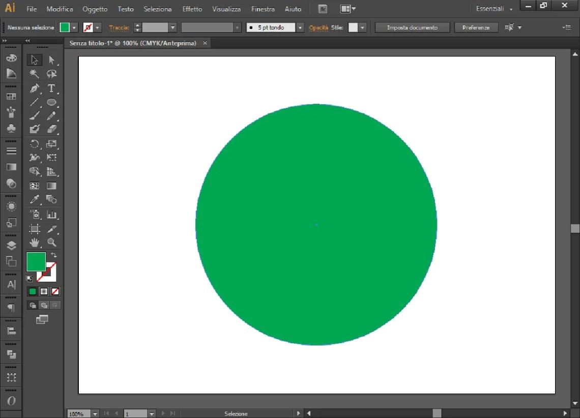 Cerchio di colore verde