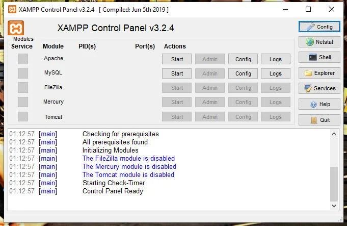 Installazione di Xampp