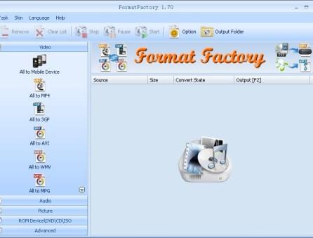 Convertitore filmati video FormatFactory