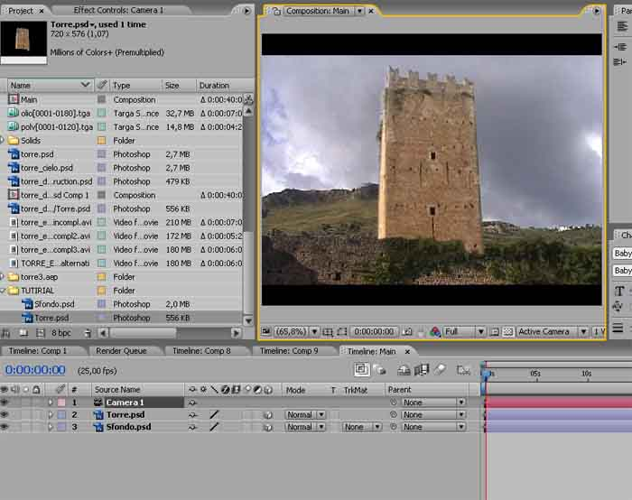 EXPLOSION TUTORIAL – STEP 3 – Esplosione di una torre in After effects