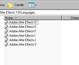 CAMBIARE LINGUA IN AFTER EFFECTS