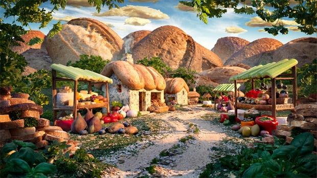 Deliziosi paesaggi di cibo di Carl Warner 3