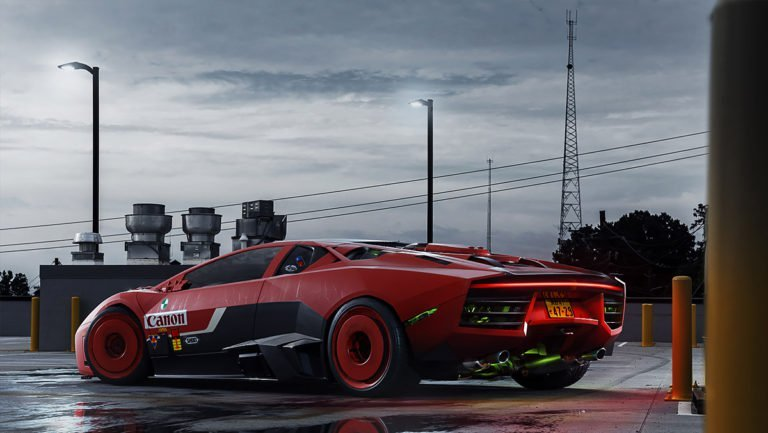 Render 3d di automobili iperrealistici di Carlos Pecino 2