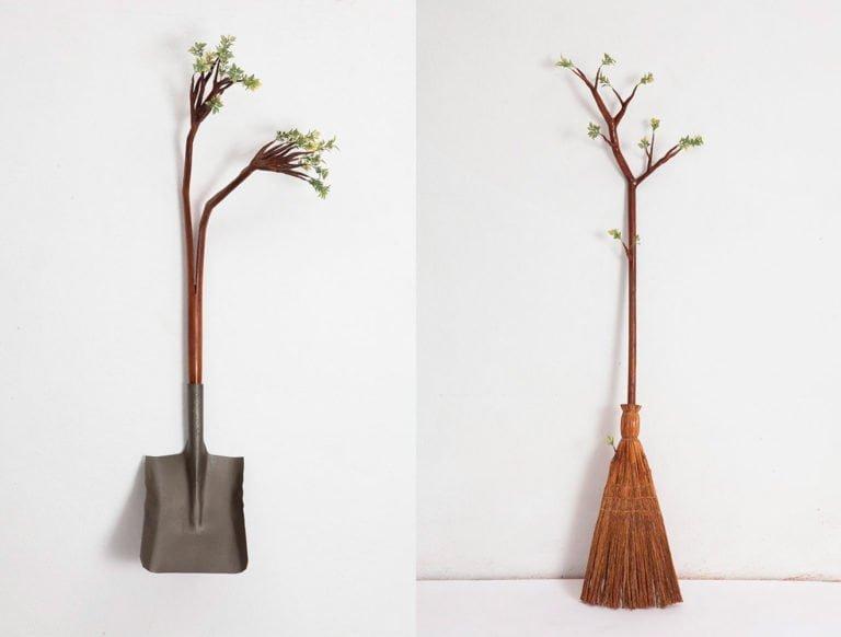 Sculture di alberi divertenti di Camille Kachani 12