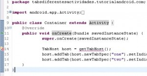 android getTabHost undefined