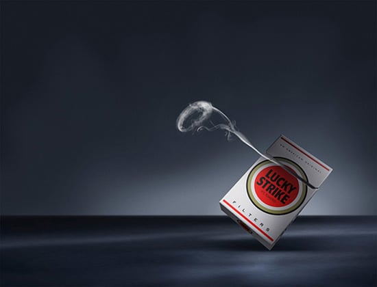 lucky strike 30 Unique and Creative Advertising Campaigns