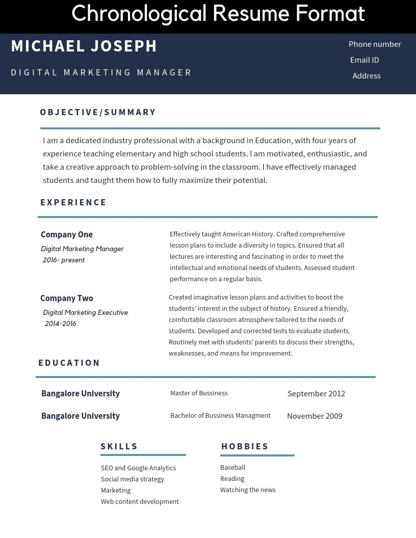 Resume Formats And Free Templates Tutorialbrain