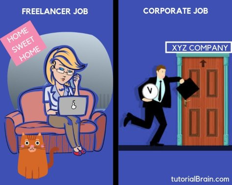 Freelancer job and corporate job