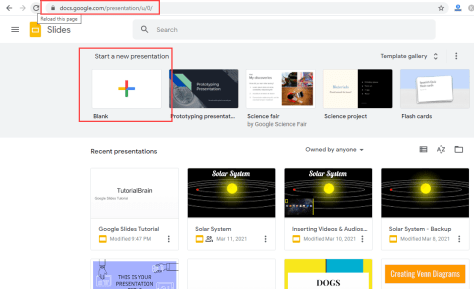 Go to slides.google.com to open Google Slides