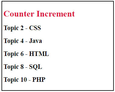Counter-Increment