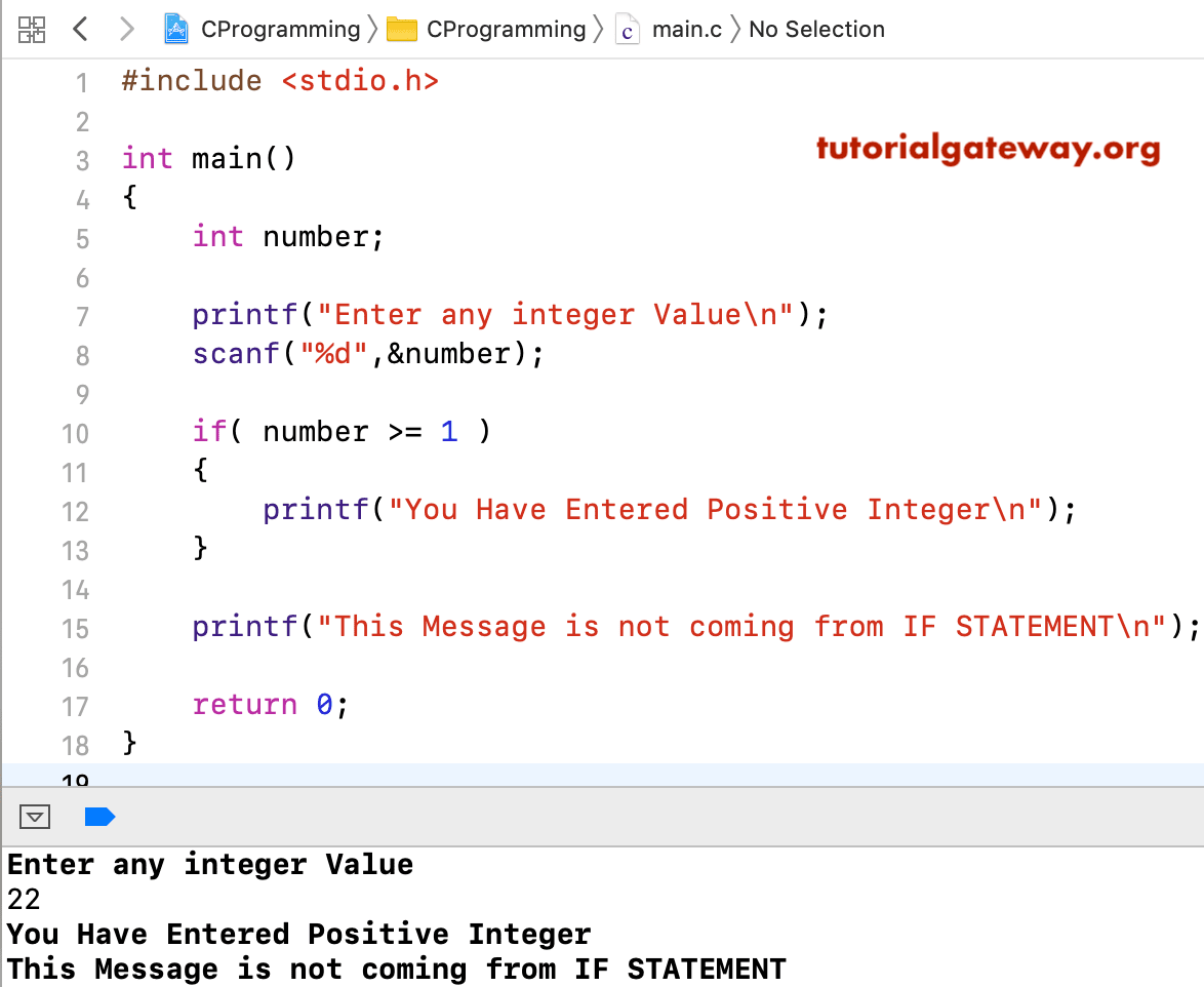 If Statement In C Language