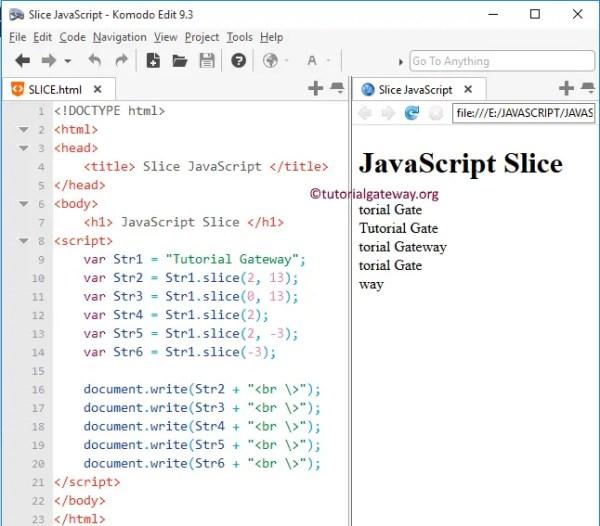 JavaScript Slice Function