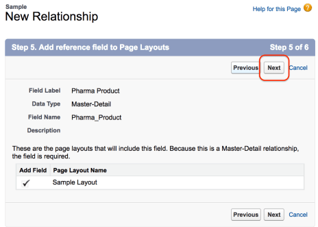 Master-Detail relationship in Salesforce