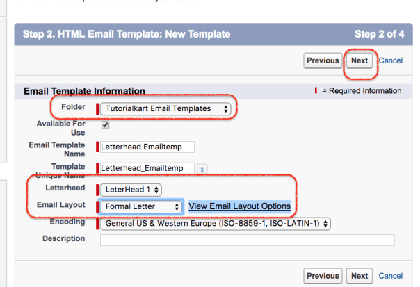 Creating new salesforce email templates click on next button maxwellsz