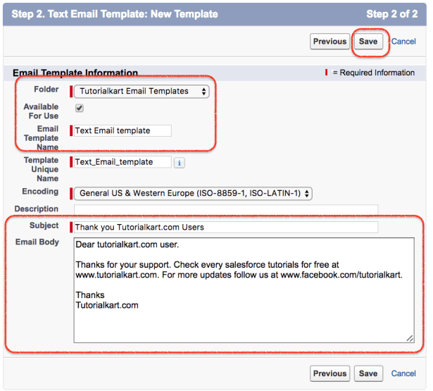 Creating New Salesforce Email Templates - Save email as template