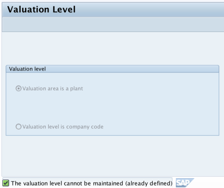How to Define Valuation Level in SAP