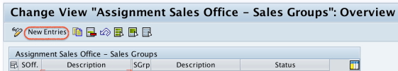 assignment sales office -- sales group overview