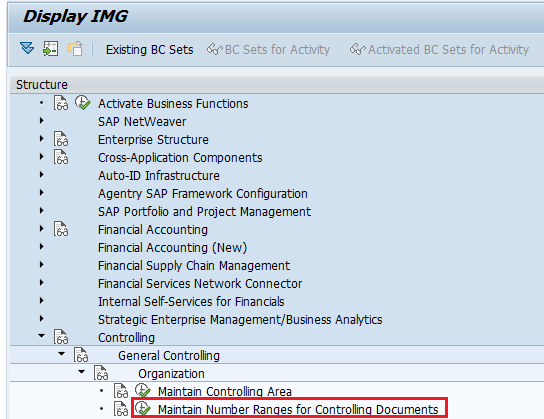 maintain number ranges for controlling documents path