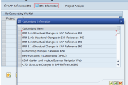 SAP SPRO customizing execute project - IMG Information
