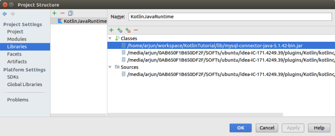 Add MySQL jar to Kotlin Java Runtime Library - Connect to MySQL Database from Kotlin using JDBC - Kotlin Tutorial