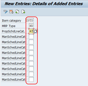 Assign Schedule Line Categories in SAP
