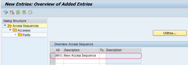 Define Access Sequences in SAP