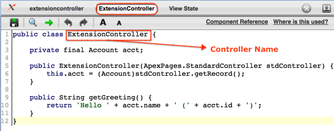 Controller extension in Salesforce