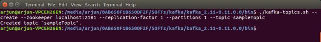 create a Topic in Apache Kafka - Apache Kafka Tutorial - www.tutorialkart.com