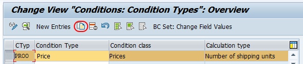 copy condition type SAP