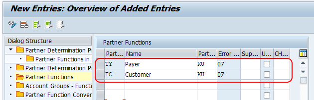 define partner functions SAP