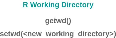 R Working Directory - R Workspace