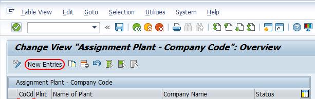 Assignment plant - company code sap
