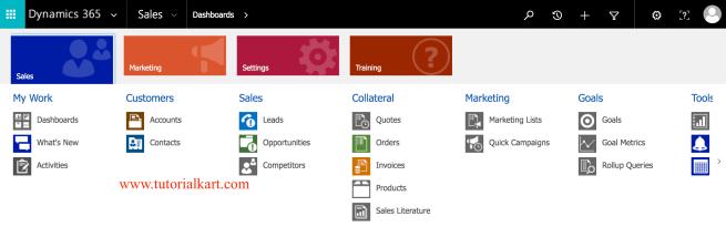Microsoft Dynamics 365 for Sales.