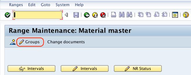 Range maintenance material master SAP