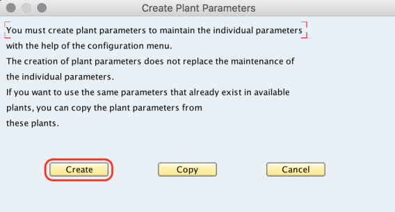 Maintain Plant Parameters for MRP