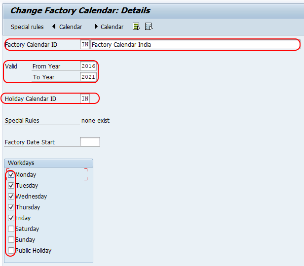 Factory Calendar Sales Organization Sap : Sap pm create factory calendar assign to plant