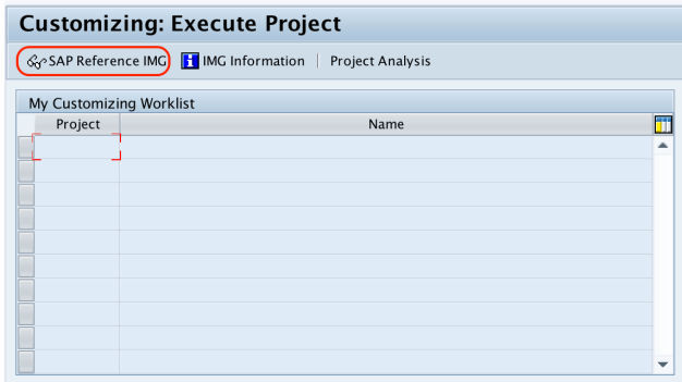SAP Reference IMG - mac