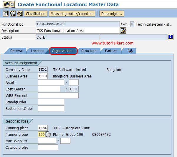 functional location organization SAP