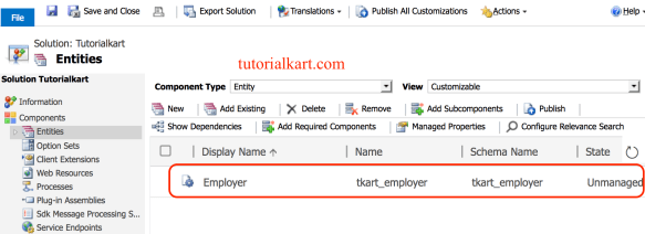 How to create an Entity in Microsoft CRM