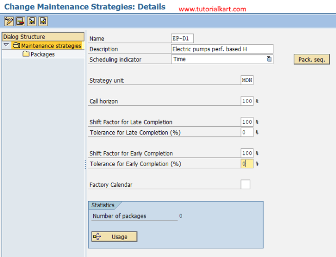 Create Maintenance Strategy in SAP