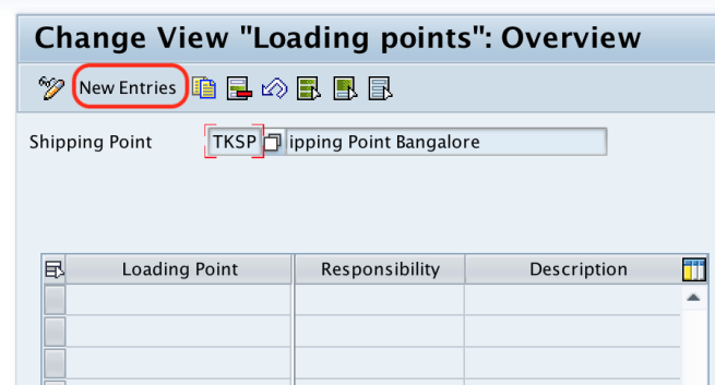 Loading point new entries in SAP