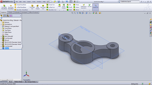 Design Control Arm With Solidworks