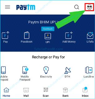 Paytm Homepage Screen