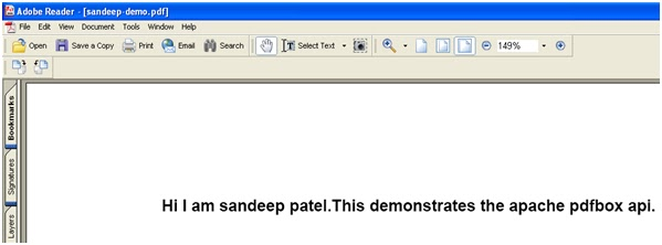 Apache : PdfBox API -Tutorial Savvy