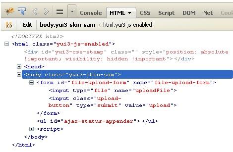 Asynchronous File Upload Using YUI IO -Tutorial Savvy