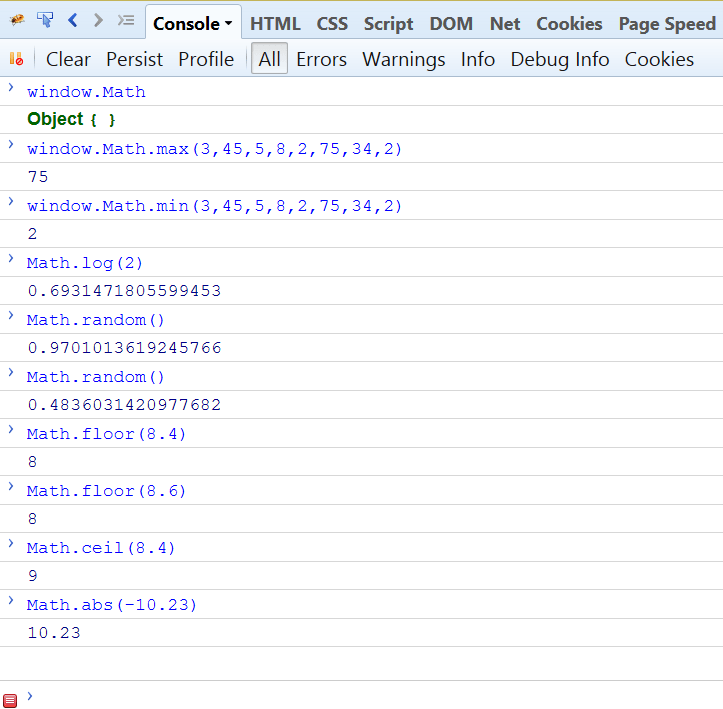JavaScript Math Object's Method And Properties -Tutorial Savvy