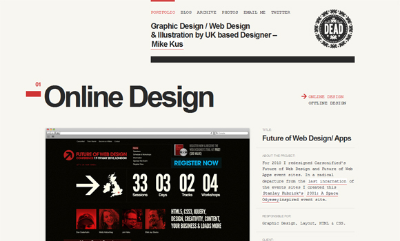 10 Best CSS Designs - Inspiration of the Week #02 7