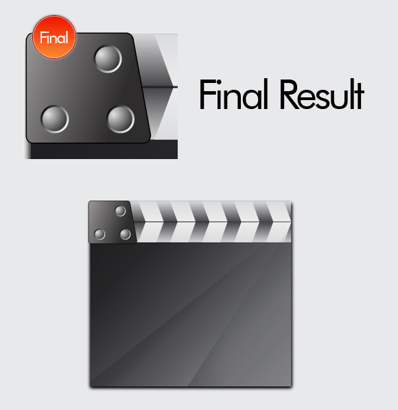 Film Can, Reel and Clapper Board Vector Tutorial in Illustrator CS5 – Part II 35