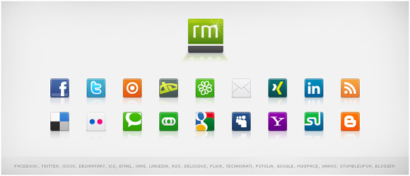 15 Free Social Media Icon Packs - Freebies 9